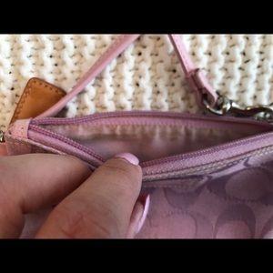 Coach Bags - Small Pink Coach Purse w/ Matching Wristlet